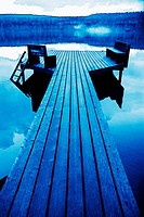 Dock on Holland Lake, Montana, USA