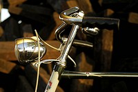 Close_up of handlebar of bicycle
