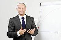 Manager vor Flipchart