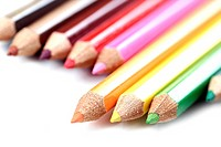 Close_up picture of color pencils