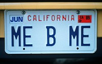 Vanity License Plate _ California
