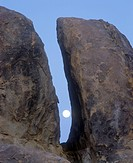 The Moon Between Two Rocks, Alabama Hills, California