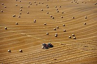 Stubble and Bales after Harvest Buckinghamshire August