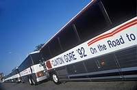 Bill Clinton/Al Gore Buscapade tour buses in Waco, Texas in 1992