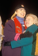 Hillary Rodham Clinton at a New Mexico campaign rally in 1992 on Bill Clinton´s final day of campaigning in Albuquerque, New Mexico
