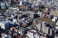 Aerial view of Bunkyo Ward,