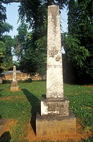 Grave marker of burial place for James and Dolly Madison, Montpelier, Virginia
