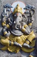 Figure of Ganesha god, Elephant god, Tiger Cave, Wat Tham Sua temple, Krabi, Thailand, Asia