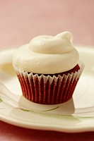 Red Velvet Cupcake with icing
