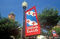 Celebrate Rockville Sign, Rockville, Maryland