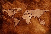 World map on textured background