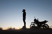 Motocross Rider in Desert