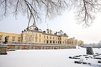 Drottningholm Palace Sweden in winter