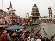 Ceremony in the Ganges Haridwar