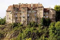 France, Limousin province, Departement of Creuse 23, Boussac   Castle of Boussac 15th century where the tapestry of La Licorne has been found by Prope...