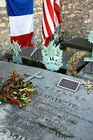 France, Ile de France province, Departement of Paris 75, Paris 12th arrondissement   The grave in the Picpus cemetery of the general Lafayette, hero o...