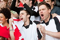 Football fans cheering (thumbnail)