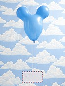 Blue balloon and airmail.