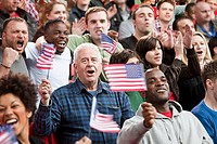 USA supporters with flags (thumbnail)