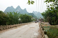 China, guangxi province, road in yangshuo