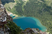 View of Wall Lake in Akamina-Kishenena Provincial Park, British Columbia, Canada