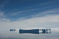 Tabular icebergs in the Weddell Sea, a part of the Southern Ocean