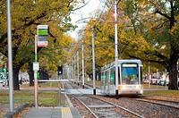 tram in Victoria Parade, Melbourne, Australia