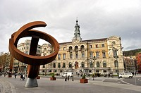 Bilbao City Council and sculpture by Jorge Oteiza