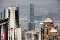 View of Hong Kong looking towards Kowloon.
