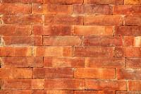 An old brick wall in Kathmandu, Nepal.