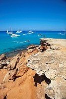 Cala Saona. Formentera. Balearic Islands. Spain.