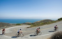 Cyclists in Malibu