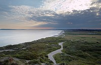 The Beach at Hengistbury head,Dorset,England,at dusk