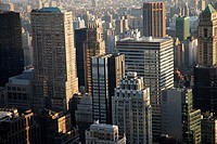 View from the Rockefeller Center to the Bank Destrict of Manhattan