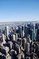 View from the Empire State Building over Manhattan