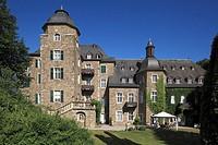 Germany, Hennef Sieg, Sieg, Sieg valley, nature reserve Bergisches Land, Westerwald, North Rhine-Westphalia, D-Hennef-Allner, castle Allner, castle ga...