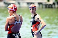 Triathlon competitors