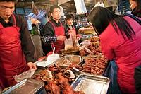Street market, Hefei, Anhui province, China