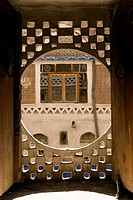 Window, Tower House, Old city, Sanaa, Yemen