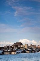 Italy, Lazio, Fiumicino, fishing port