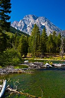 Mount Moran from String Lake, Grand Teton National Park