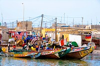 Senegal _ Saint_Louis _ Langue de Barbarie _ Guet N'Dar _ Fishermen's village