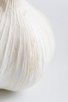 Extreme close up of a garlic bulb