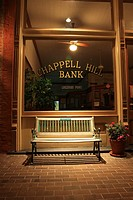 Bank at Night - Chappell Hill, Texas