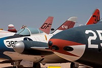 A collection of vintage aircraft at Pima Air & Space Museum