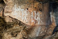Ngamadjidj Shelter, Aboriginal Rock Art Site, The Grampians National Park, Victoria, Australia.