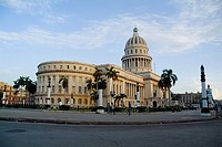 National Capitol Building at sunrise in Havana, Cuba.