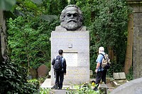 Karl Marx' Grave, Highgate Cemetery East, London, England, UK