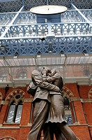 St Pancras international railway station, London borough of Camden, London. United Kingdom