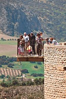 ronda, malaga, andalusia, spain, lookout over the mountains of the serrania de ronda